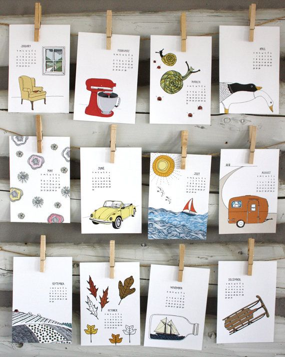 2013 Illustrated Wall Calendar by Sloe Gin Fizz. [ ©2012 Nicole Ray ] Use coupon code PIN10 to receive 10% off of current calendar and more!