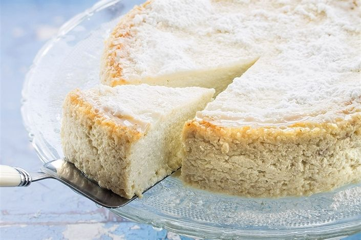 Baked Ricotta Cheesecake - Rich Ricotta Cheesecake with lemon flavor.