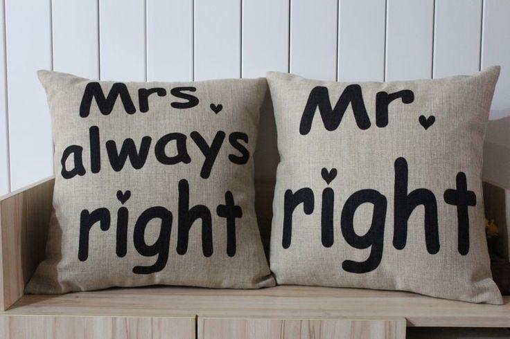 Bsl-lc53 decorativi vintage lino cuscini signor. La destra. Sempre ragione buttare federa cuscino caso 45x45cm spedizione gratuita