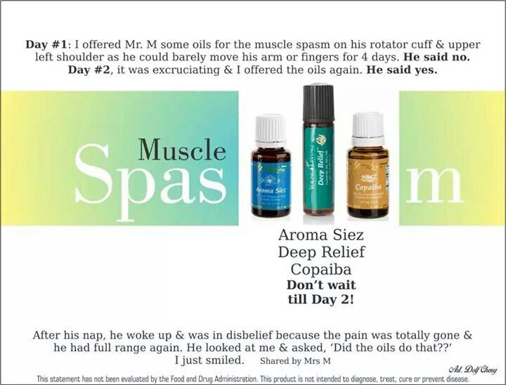 Oils for muscle spasms