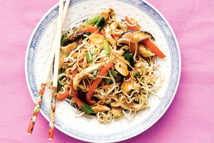 Kijk wat een lekker recept ik heb gevonden op Allerhande! Kip chow mein