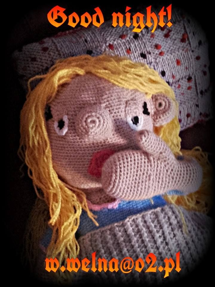 After the fairy tale bedtime, time to go to sleep!   #goodnight #bedtime #sleep #handmade #puppets #lalka #rękodzieło #wełna #szydełko