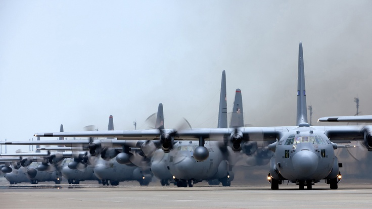 C-130's....can you FEEEEEL their roar???
