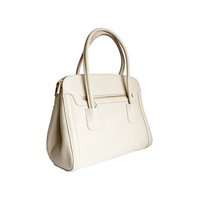 Layla Italian Cream Leather Shoulder Bag  - £69.99