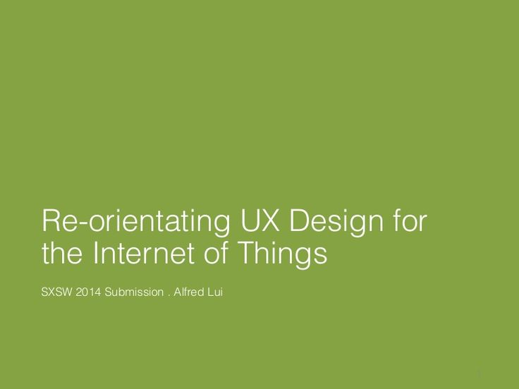 SXSW Interactive 2014 Panel Proposal