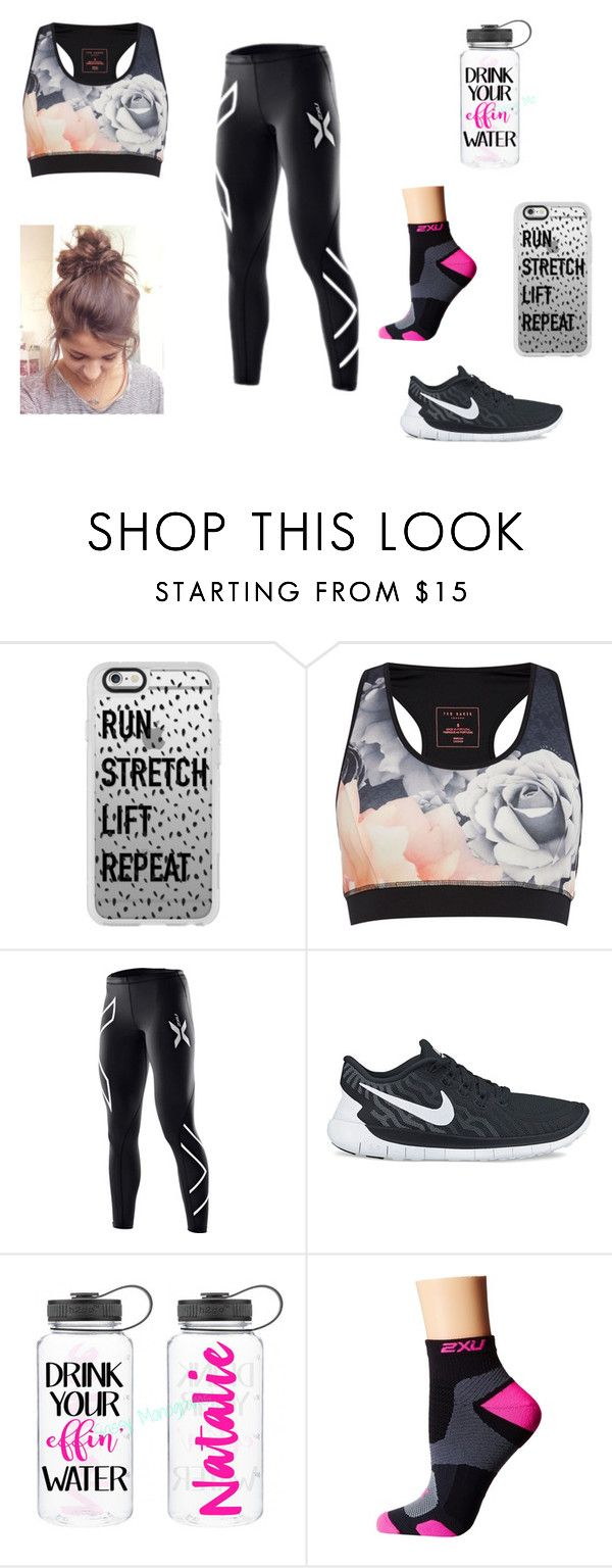 """""""Fitness"""" by alana-26 on Polyvore featuring Casetify, Ted Baker, 2XU, NIKE, fitness and running"""