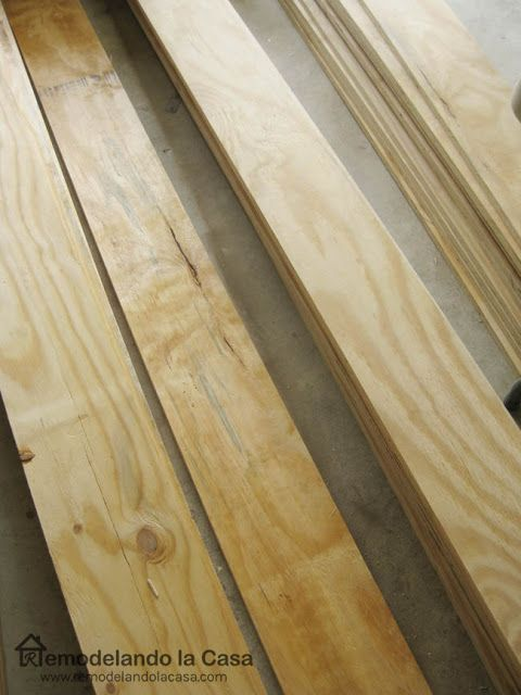 Pine Plywood sheets were cut in 8 inch planks and used as flooring