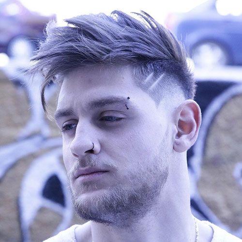 Low Skin Fade + Textured Hair on Top + Beard