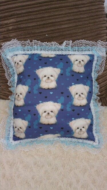 #Maltese pillow so pretty  for sale in Pixies Posh Pets or email us at Pixiesposhpets@yahoo.co.uk