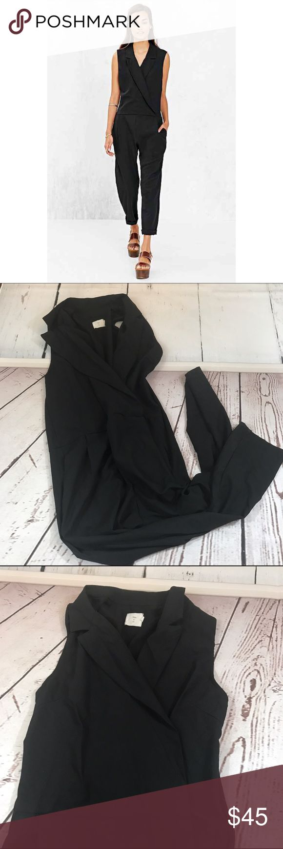 "💚💚 URBAN OUTFITTERS BLACK APOLLINE JUMPSUIT B42 Condition: Euc Approximate measurements (laying flat): 18"" bust 54.5"" Length 28"" inseam  Item location: bin 42  ❤no trades/no modeling❤ Urban Outfitters Pants Jumpsuits & Rompers"