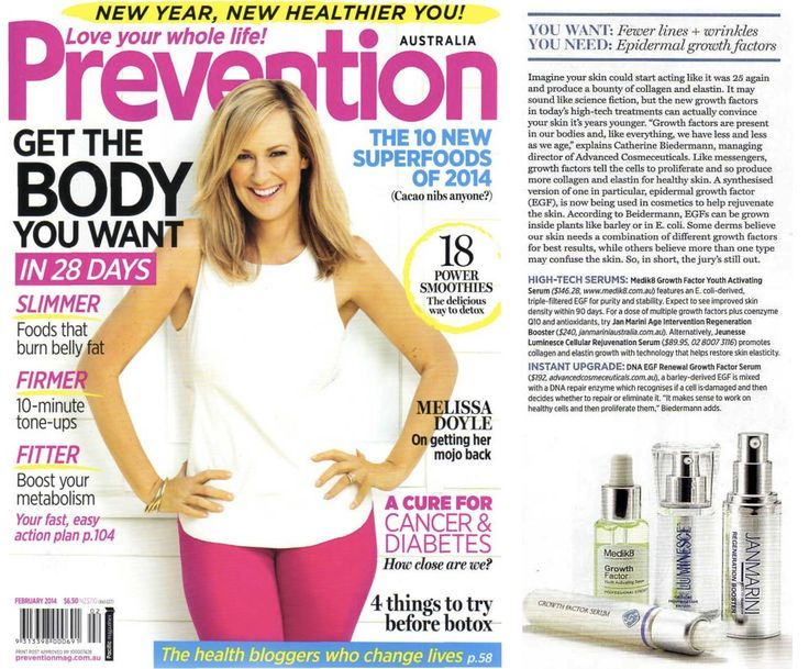 Jeunesse Global's products featured in Prevention Magazine.