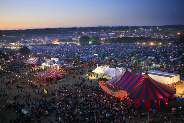 Glastonbury music festival in England at the end of June is the largest open air music festival in the world. www.allabouttravel.org - www.facebook.com/AllAboutTravelInc - 605-339-8911