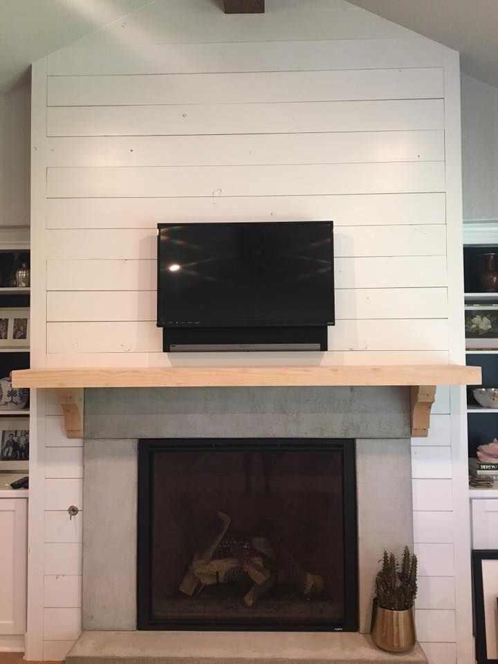Shiplap Fireplace With Custom Mantle 2m Custom Builders