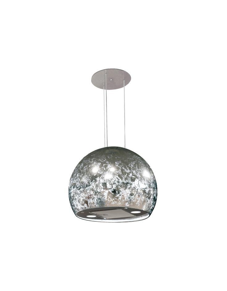 50cm Chandelier Island Cooker Hood | Silver Finish Spherical Cooker Hood | MyAppliances