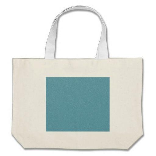 PANTONE Aquamarine babyblue with faux fine Glitter Tote Bag