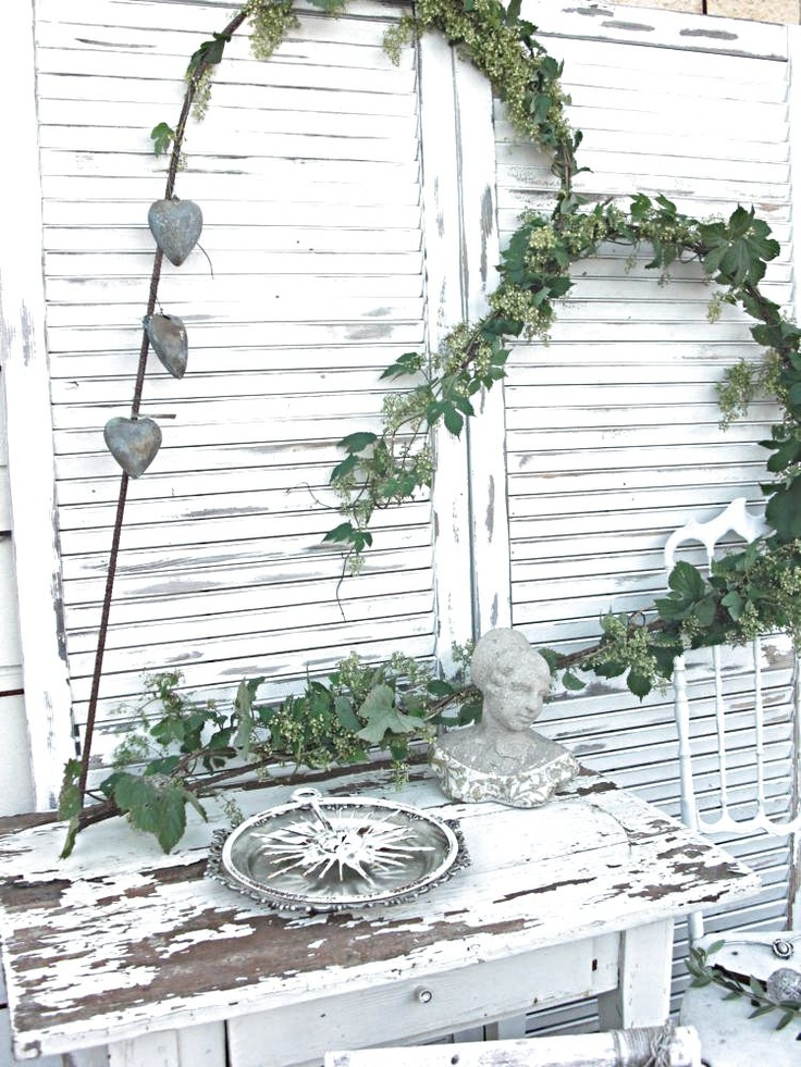 I'm thinking I could make a heart shaped frame and grow my Virginia Creeper on it