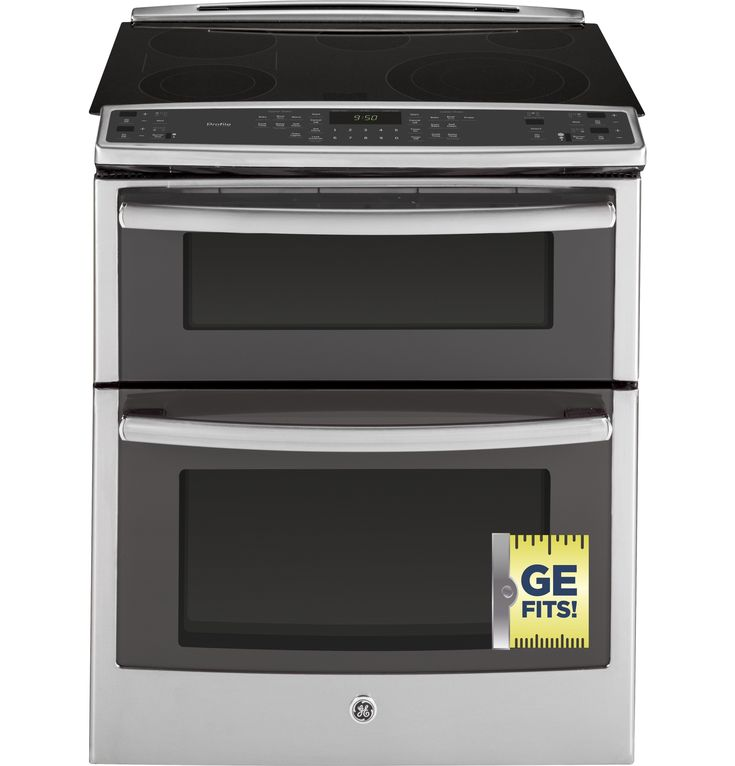 """GE Profile™ Series 30"""" Slide-In Front Control Double Oven Electric Convection Range 