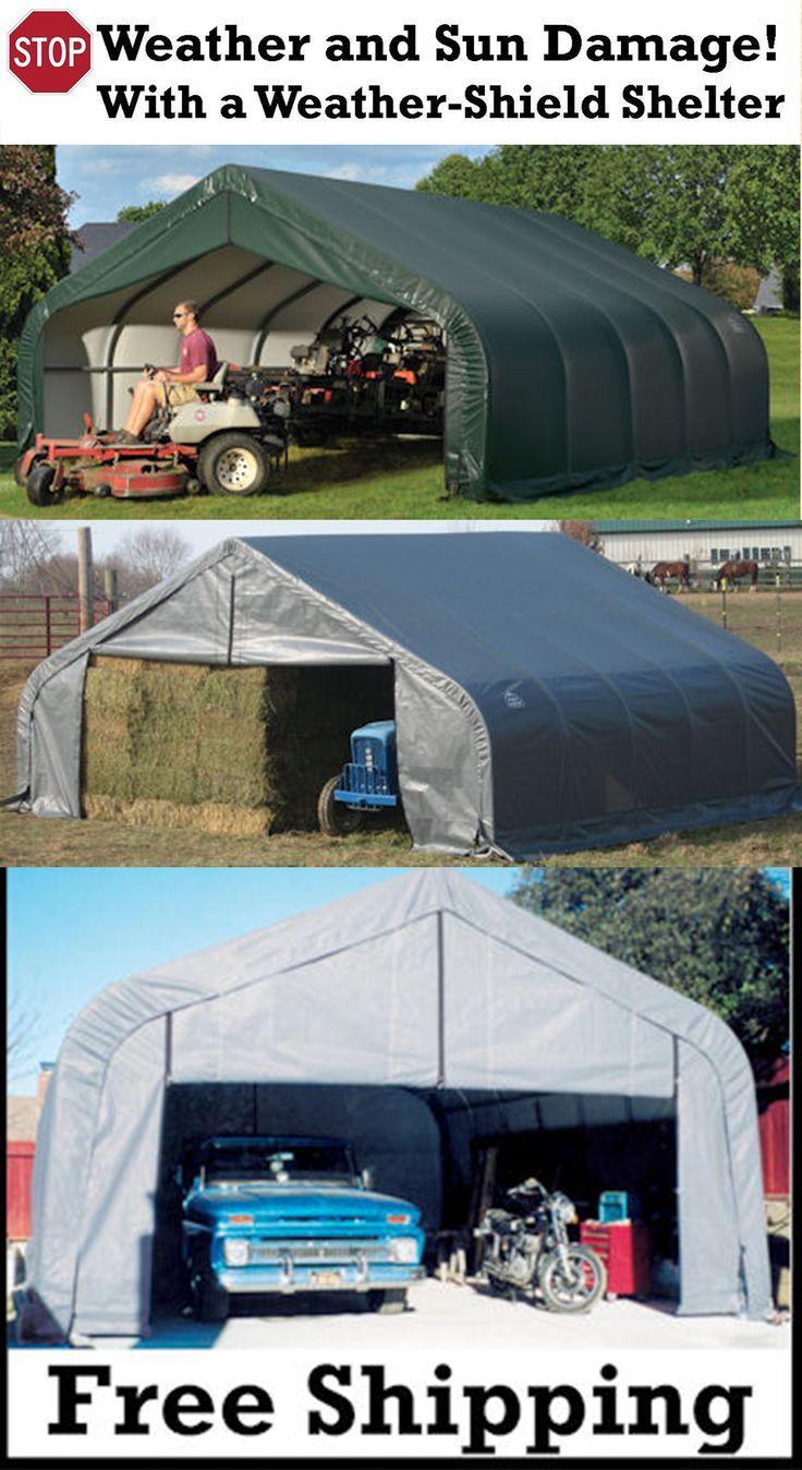 2 Car Garage Shelter : Images about portable garage carport shelter