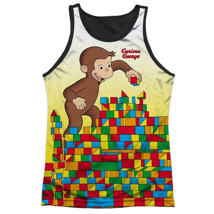 """Checkout our #LicensedGear products FREE SHIPPING + 10% OFF Coupon Code """"Official"""" Curious George/building Blocks-adult Poly Tank Top T- Shirt - Curious George/building Blocks-adult Poly Tank Top T- Shirt - Price: $24.99. Buy now at https://officiallylicensedgear.com/curious-george-building-blocks-adult-poly-tank-top-shirt-licensed"""