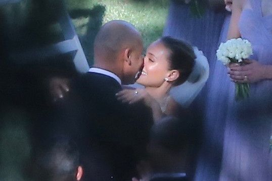The pair exchanged vows at the five-star Meadowood Napa Valley Resort on Saturday in front of roughly 100 guests.