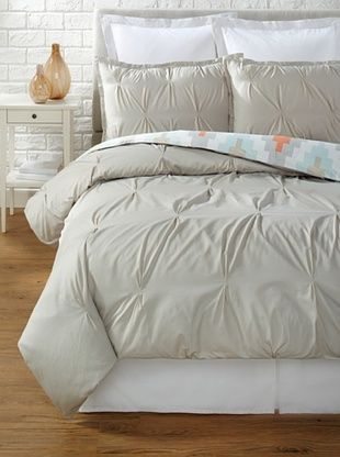 64% OFF Blissliving Home Harper Duvet Set (Glacier Grey/Chevron)