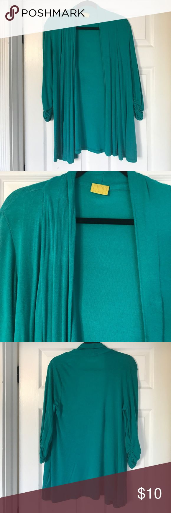 Nordstrom Turquoise cardigan S Hardly worn, super soft. Purchased @ Nordstrom MOD Sweaters Cardigans