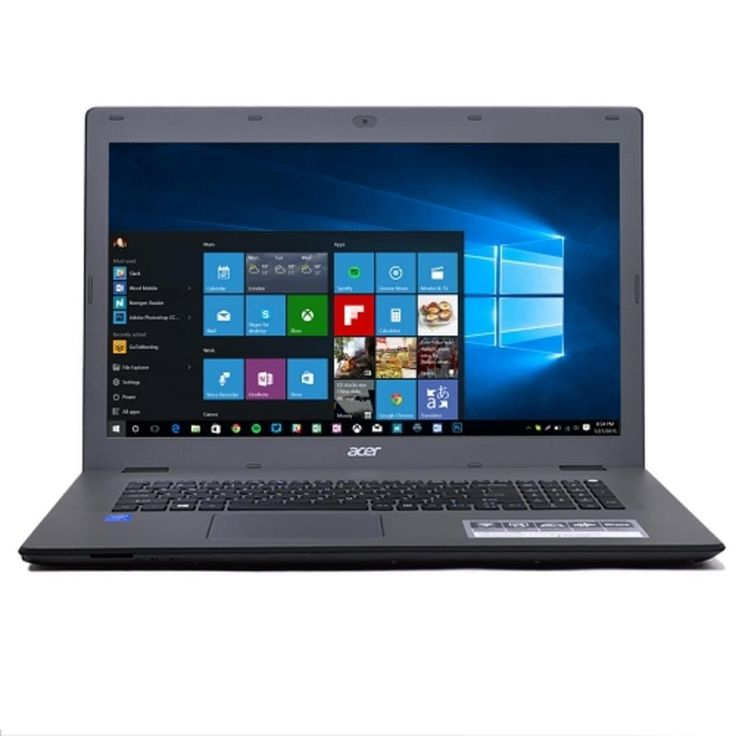 Acer Aspire E5-772-794M Core i7-5500U Dual-Core 2.4GHz 16GB 1TB DVD±RW 17.3 LED HD. Acer Aspire E5-772-794M Core i7-5500U Dual-Core 2.4GHz 17.3 HD Notebook  General Features:  Microsoft Windows 10 Home 64-bit pre-installed  5th Gen Intel Core i7-5500U 2.4GHz dual-core processor  3.0 GHz Max Turbo Frequency, 4MB Smart Cache, 5GT/s DMI2  16 GB DDR3L RAM  1 Terabyte SATA hard drive  DVD±RW drive  Intel HD Graphics 5500  Integrated High Definition Audio with built-in speakers  10/100/1000…