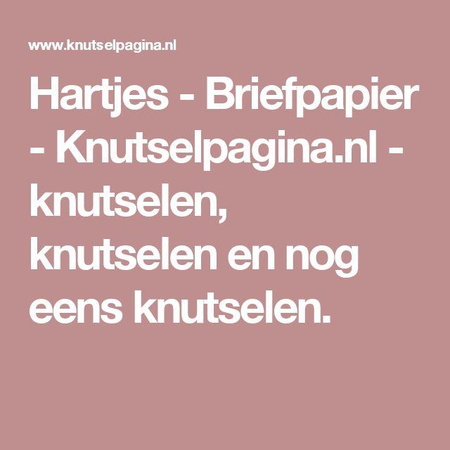Hartjes - Briefpapier - Knutselpagina.nl - knutselen, knutselen en nog eens knutselen.