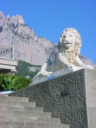 Crimea, One of the lions of the Vorontsov palace