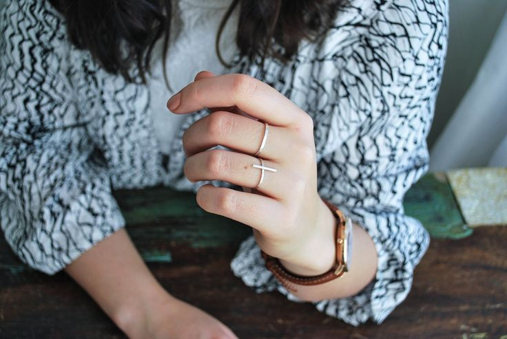 Straight Line – simple silver ring.