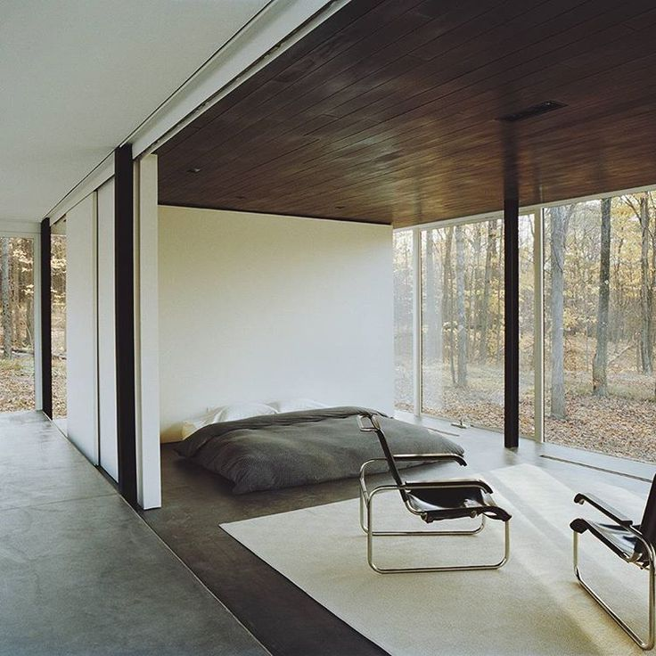 Modern house in the woods. For your everyday dose of minimalism.  House by Michael Bell Architect.