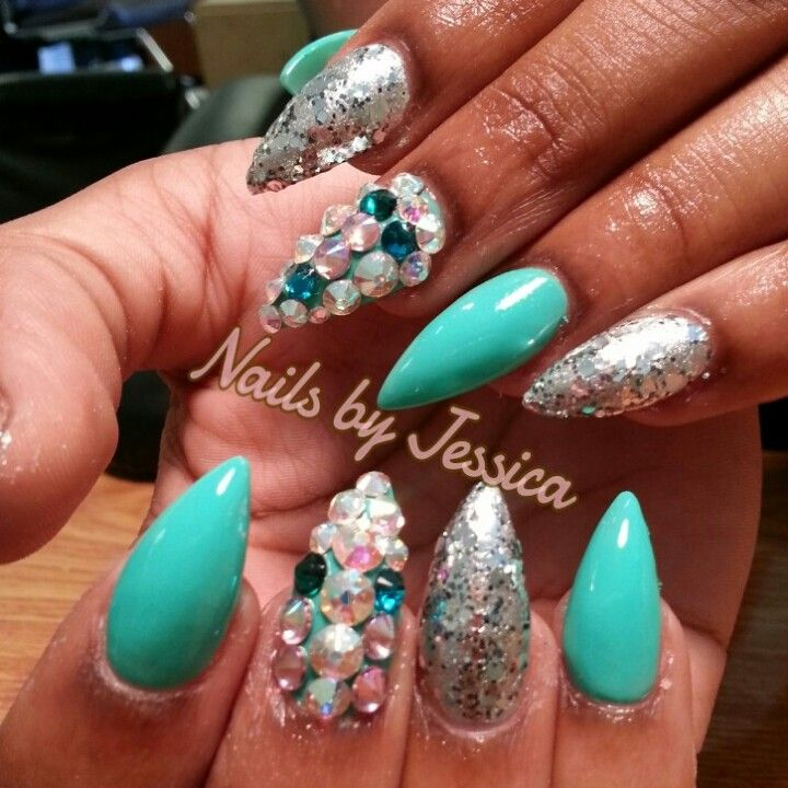 Stiletto Nail Designs Hair Done Nails Did Pinterest Accent