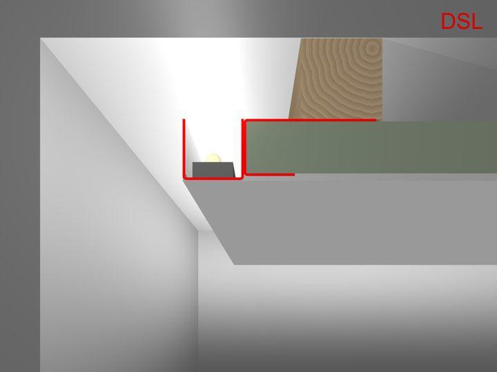 DSL LED Trockenbauprofil / LED Profil