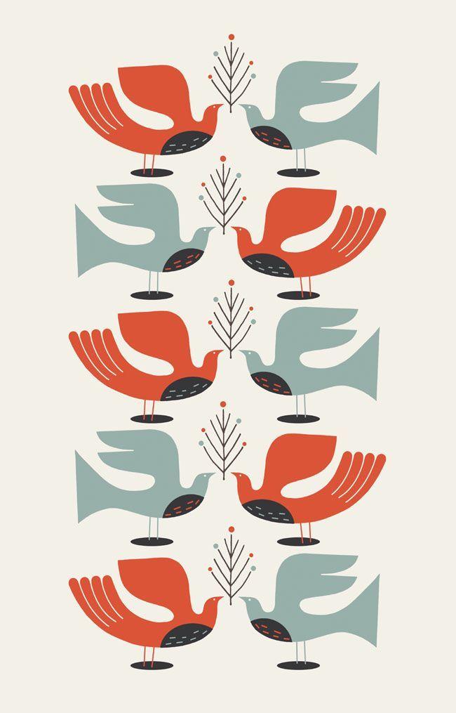 giving birds #pattern ©Tracy Walker