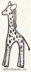 мягкая игрушка жираф, которую можно сделать своими руками из фетра по публикуемой бесплатной выкройке
