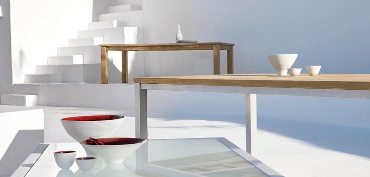 Sleek and modern tables designed by Manutti. #furnituredesign #modern #furniture #table