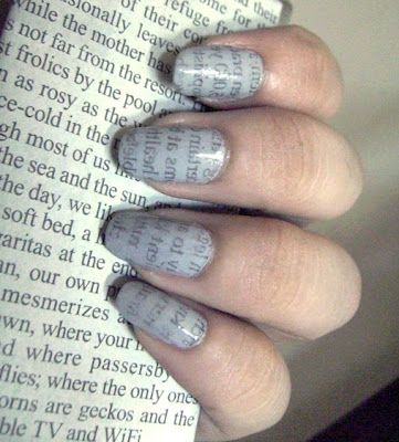 Best 25 newspaper nail art ideas on pinterest diy nails with diy newspaper nail art prinsesfo Image collections