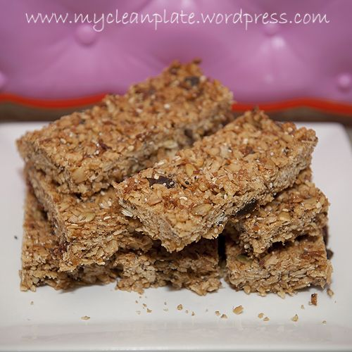 Healthy Museli Bars (Nut free, No Refined sugars added, Clean Eating, Dairy Free & Gluten Free option)