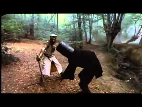 König Artus gegen den Schwarzen Ritter Die Ritter der Kokusnuss - YouTube