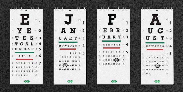eye test calendar