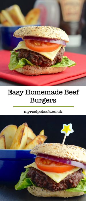 This homemade beef burger recipe is so quick and simple to make, with just two ingredients. You won't want to buy ready-made ever again!