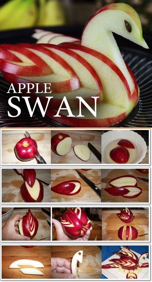apple swan tutorial
