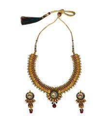 Buy Temple Coin Set (Multicolour 3) necklace-set online