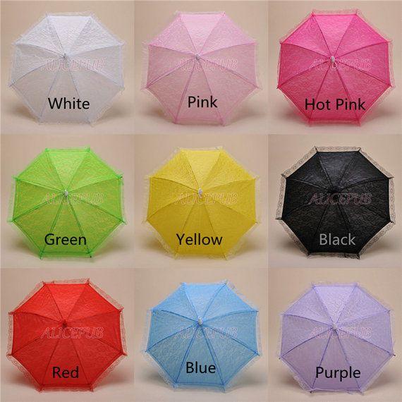 Kids Umbrellas, Lace Umbrellas, Wedding Parasol, Flower Girl Umbrella, Wedding Party Decor Parasols, Colorful Parasols, Hang Umbrella Decorations.