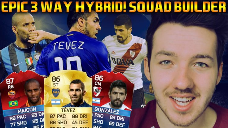 RETRO FIFA 16 CARDS SQUAD BUILDER | 3 WAY HYBRID BPL, SERIE A & TEVEZ
