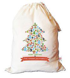 Tree Collage Santa Sack