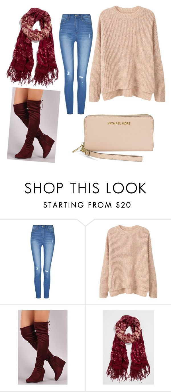 """OOTD❄️"" by hager-abbas ❤ liked on Polyvore featuring MANGO, maurices and Michael Kors"
