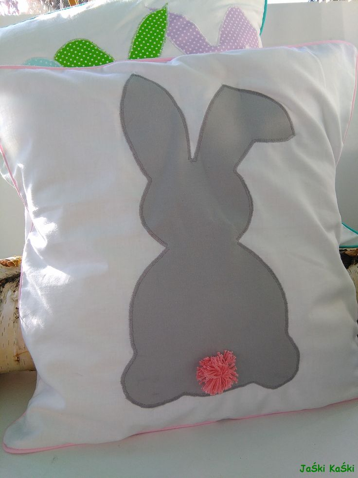 Easter pillows in rabbits