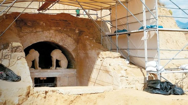 The Tomb  Amphipolis Greek Tomb Discovery: Missing Sphinx Head Discovered in Third  Chamber  The world is looking for the answer to an old mystery! What or who is in  the Ancient Tomb at Amphipolis Greece? A large-scale archeological  excavation is in progress in hopes of answering the old question… Who is  buried in this magnificent tomb? Is it Roxanne, the wife of Alexander the  Great, or is it his son, or his mother or even Alexander the Great...  himself? Or is it someone else.  The…
