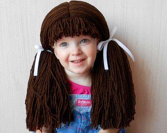 Dorothy Wig disfraces Halloween traje marrón las pelucas de disfraces para niños